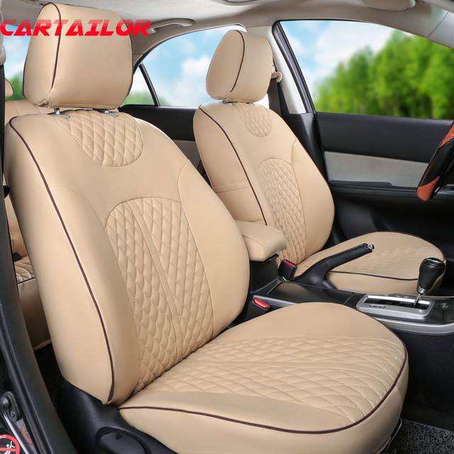 CARTAILOR PU Leather Car Seat Cover Set For Volkswagen