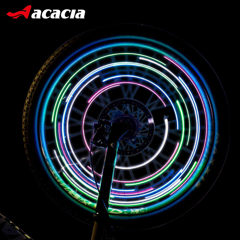 ACACIA Cycling Lights Waterproof MTB Road Bike Front Rear Spoke Wheel Decoration Lamp New Design Safety Warning Bicycle Lights wheel up bike head light cycling bicycle led light waterproof bell head wheel multifunction mtb lights lamp headlight m3014