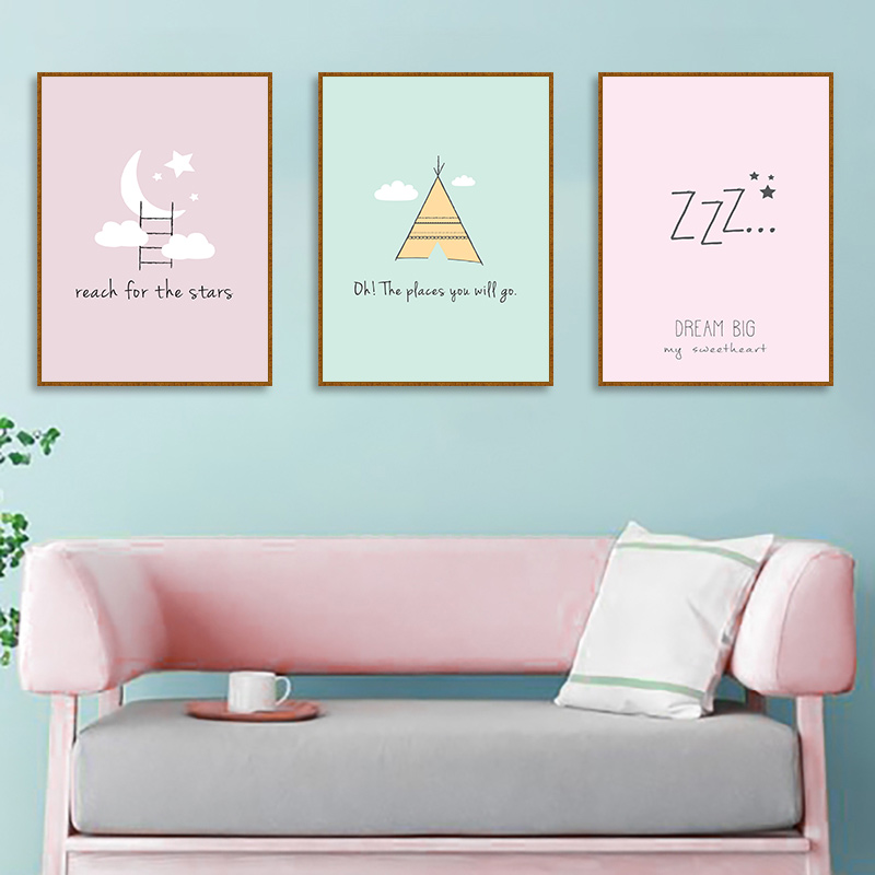 Inspirational Quotes Canvas Posters Nursery Star Gold Tower Painting Nordic Style Pictures Home Decoration Posters and Prints in Painting Calligraphy from Home Garden