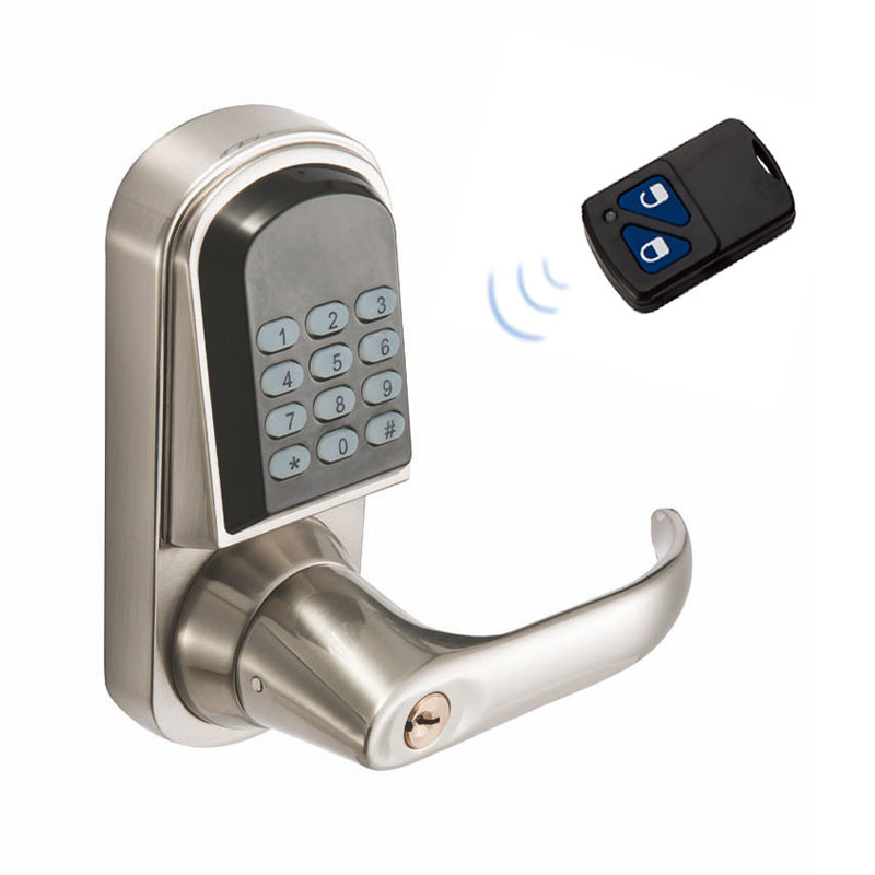 DL1113 Electronic Lock zinc Alloy Anti-Rust Material, Remote Control, Password, Mechanical Key, Digital Smart Door Lock dl1115 electronic lock numeric keypad code rf card mechanical key zinc alloy rust
