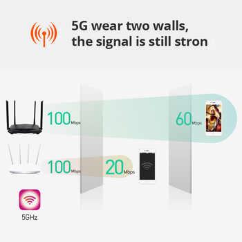 テンダ AC6 AC1200Mbps ワイヤレス無線 Lan ルータ 1WAN + 3LAN ポート、 4 * 6dBi 高利得アンテナ無線 Lan リピータスマート App 管理