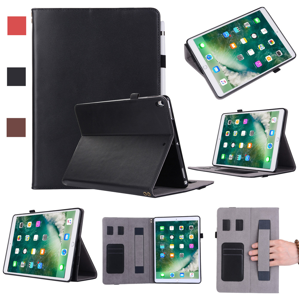 Fashion Case For Apple iPad pro 10.5 inch Case Cover 100% Genuine Leather Tablets Folding Flip Cover for iPad pro 10.5 inch jisoncase smart case for apple ipad 9 7 inch 2017 cover genuine leather tablets folding magnet flip air 1 2