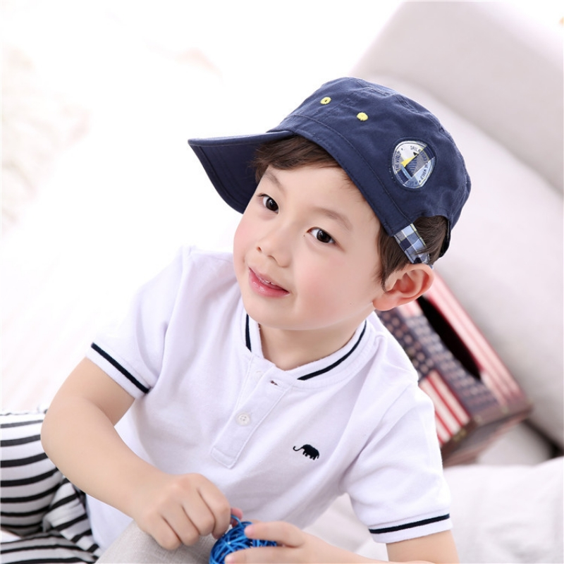 European Brand Baby Boy Baseball Hat 1-7 T Kids Blue Four Seasons Cotton Caps  Baby Fahion Clothes Accessories a104aa4b872