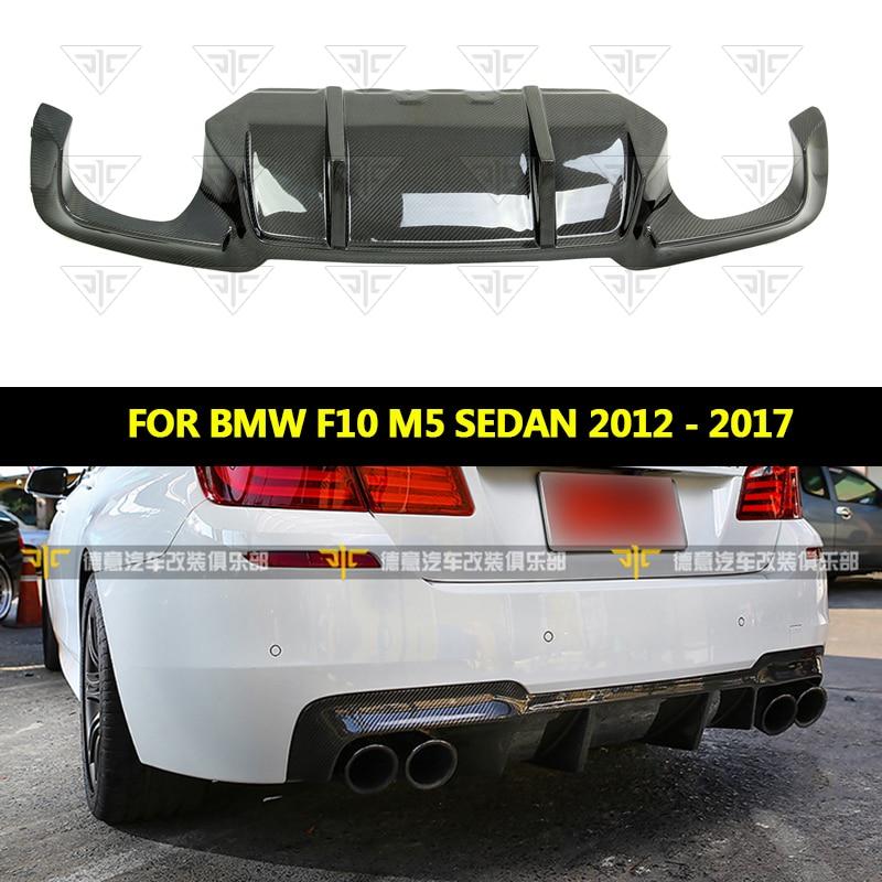 Carbon Fiber Car Bumper Lip spoiler Diffuser For BMW F10 M5 Sedan 2012 2017 DTM Style rear bumper