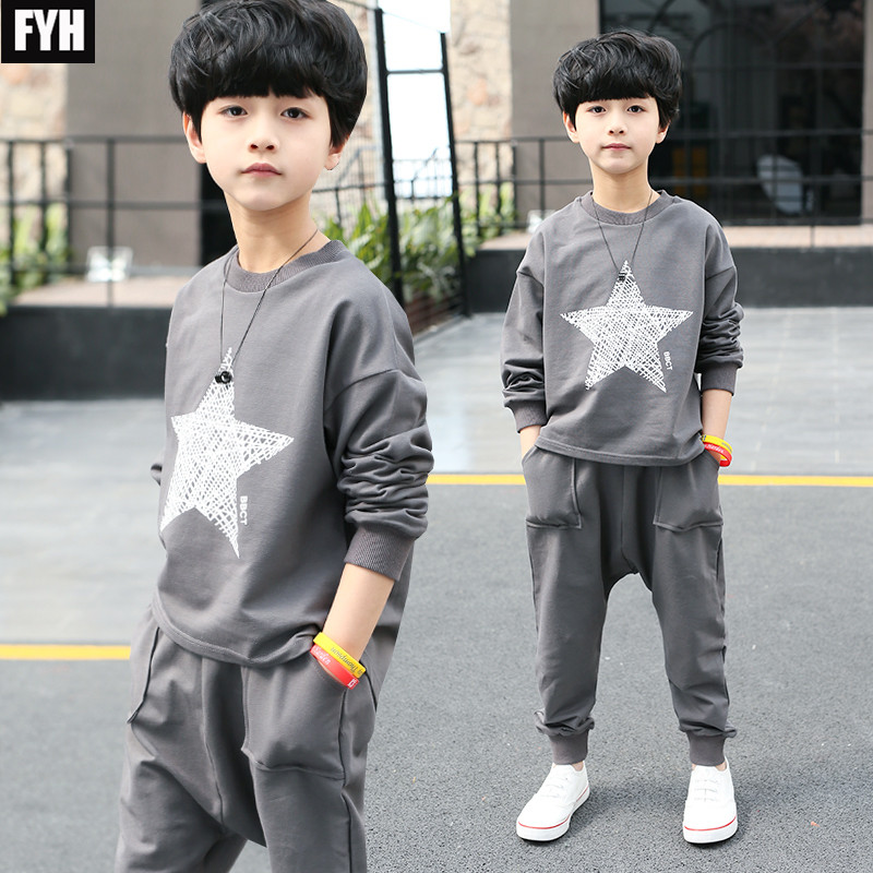 Children Clothing Boys Sports Set Kids Autumn SpringTracksuit Baby Casual Suit Sweatshirt+Pants