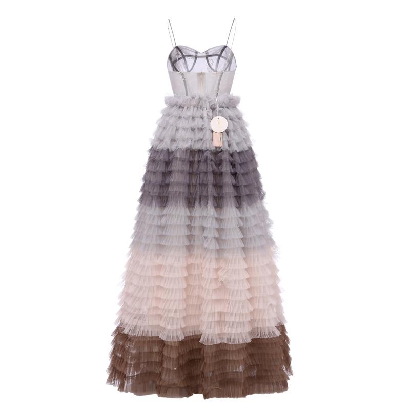 Suknia Balowa Spódnica Sunvary Spaghetti Strap Sukienki Na Bal - Suknie specjalne okazje - Zdjęcie 4