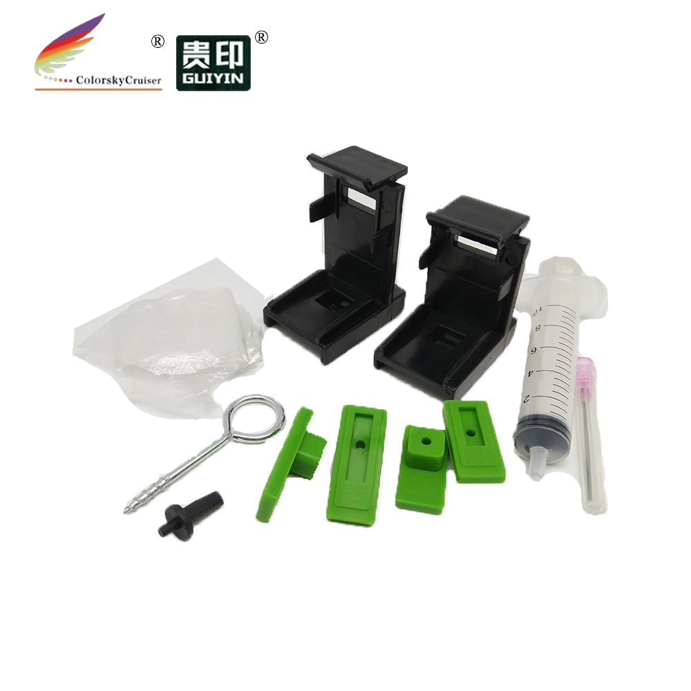 (T15) Professional Refill Holder Ink Suction Tool Clips For HP And For Canon Cartridges With Printhead With Accessories