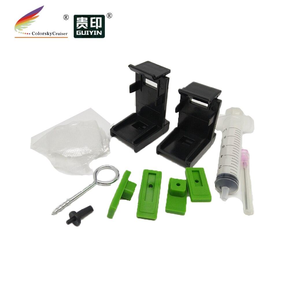 (T15) profissional clipes de titular ferramenta de sucção de tinta refil para HP e Canon cartuchos de tinta com cabeça de impressão com acessórios