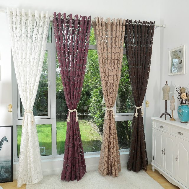 Luxury Fashion Style Semi Blackout Curtains Kitchen Curtains Window Living  Room Living Room Curtain Panel Jacquard Fabrics Door