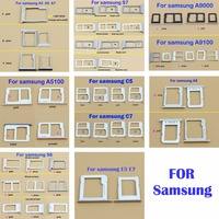 Micro Nano SIM Card Holder Tray Slot for Samsung E5 E7 C7 C5 A8 A5100 A9100 A9000 A3 A5 A7 SIM Card Card Holder Adapter Socket