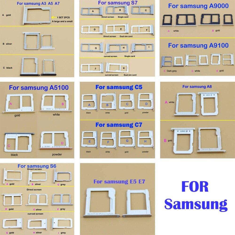 Micro Nano SIM porte-carte Fente pour Samsung E5 E7 C7 C5 A8 A5100 A9100 A9000 A3 A5 A7 SIM Carte porte-carte Adaptateur Prise