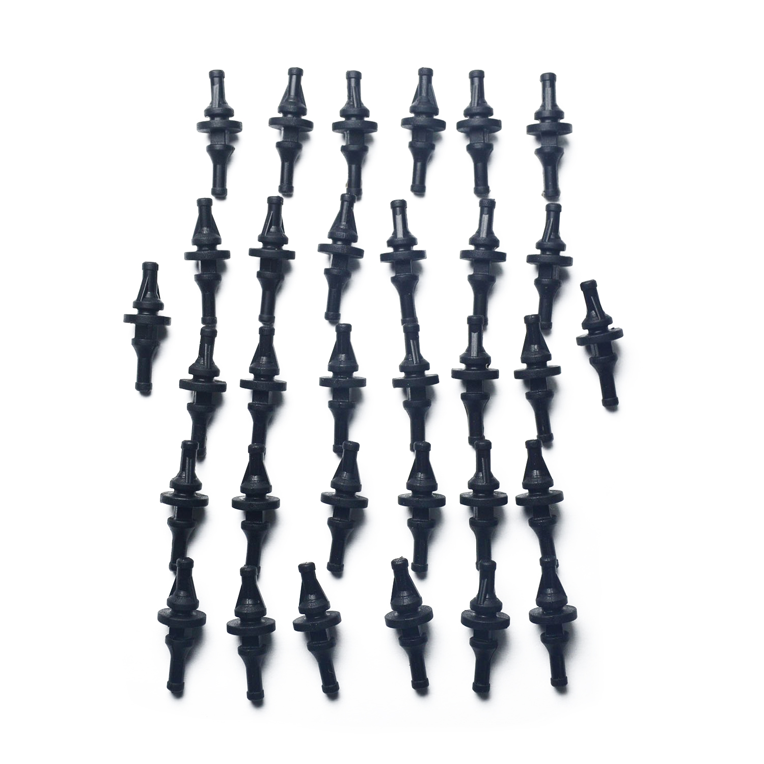 32 PCS Rubber Anti Vibration Mount Screw Pin Rivet,for PC Case Fans Anti Vibration uxcell m12 50 x 30mm anti vibration rubber mounts isolators bobbins