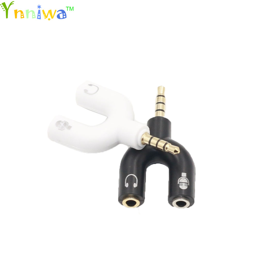 100pcs 1 Male To 2 Female 3.5mm Earphone Headphone U Shape Stereo 2 Way Headphone Adapters Conver For Mobile phone for MP3 MP4 футболка conver conver co005emhh769