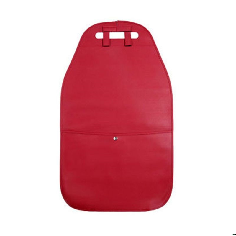 Чехол на заднюю панель автомобильного сиденья с карманом для хранения, органайзер, чехол на заднее сиденье, анти-кик, коврики, износостойкие, для заднего сиденья автомобиля, защита доступа - Цвет: Коричневый