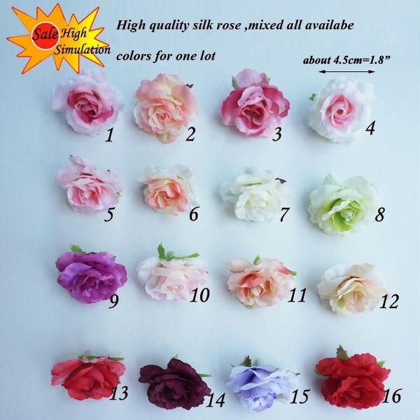 100pcs 45cm brand artificial silk flower mini rose heads for silk open rose mightylinksfo