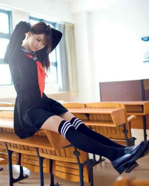 DHL 50 adet yaz denizci elbisesi öğrenci üniforma klasik servis okul üniforması seti pilili etek Japon üniforma tiki tarzı