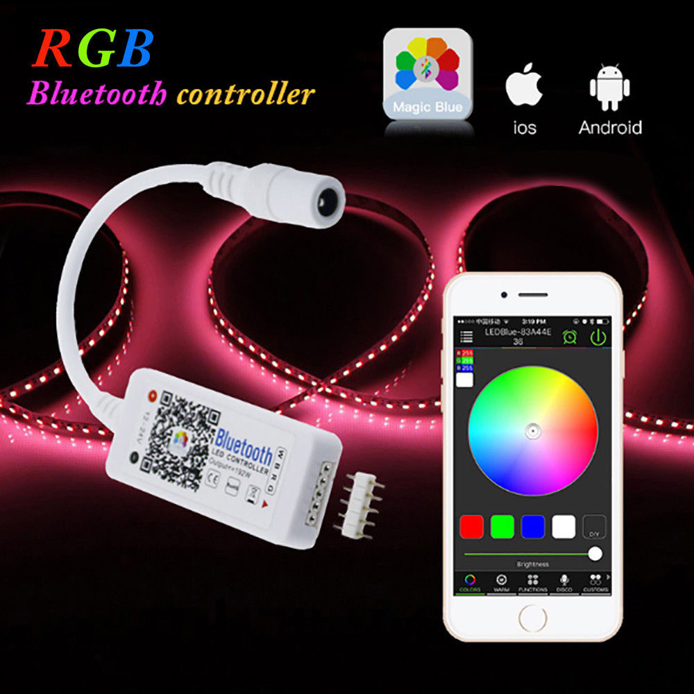 Image 5 - Mini Bluetooth/Wifi LED Controller Remote For 5050 3528 RGB/RGBW LED Strip Light 2018 New Arrival Hot Sale-in RGB Controlers from Lights & Lighting