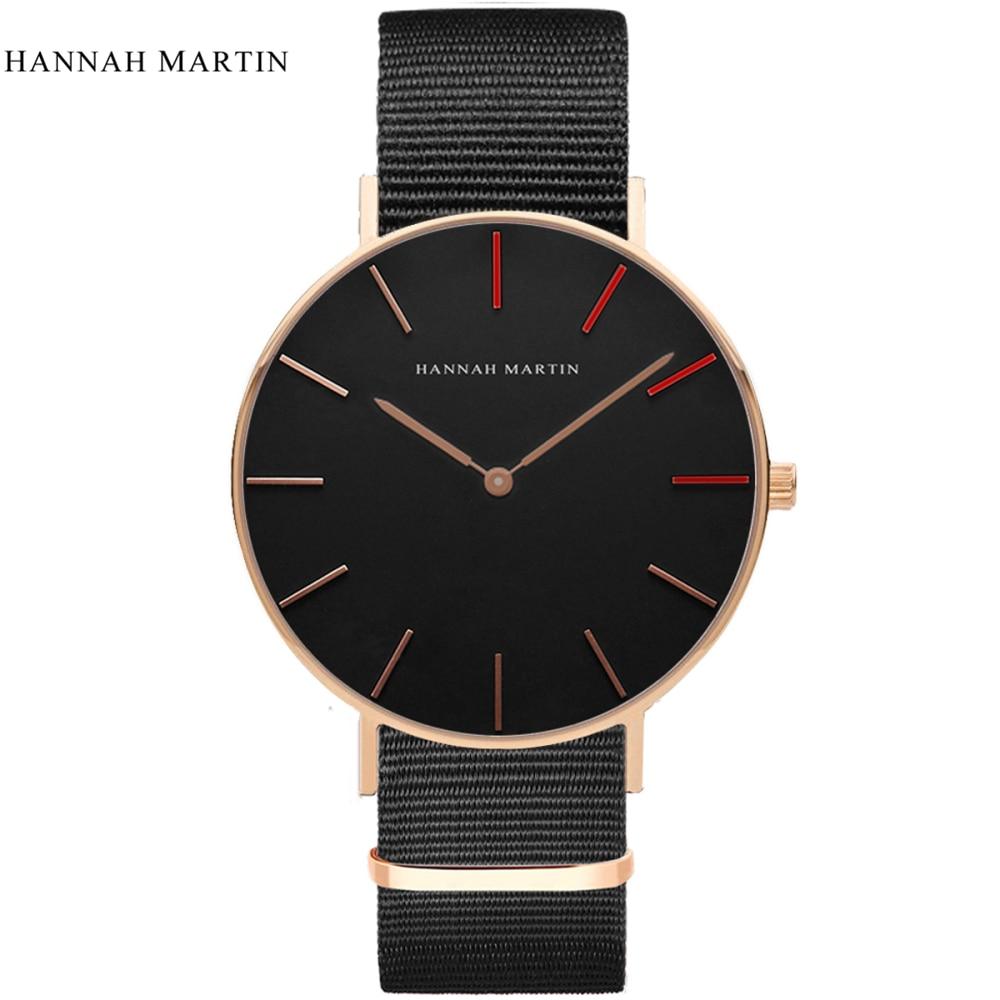 Hannah Martin Watch Women Fashion Watch 2019 Unisex Watches Rose Gold Lady Clock Men Relogio Masculino Horloge Orologi Donna
