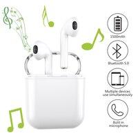 Wireless Earbuds, GUSGU True Wireless Bluetooth Earbuds 5.0 TWS in Ear Sports Wireless Earphones Built in Mic 1500mAh Battery
