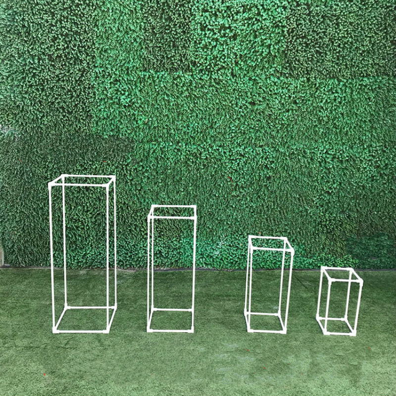 Wedding Arch Road Lead Decor Artificial Flower Wrought Metal Iron Square Block Wedding Birthday Party Event Decor Flower Stand