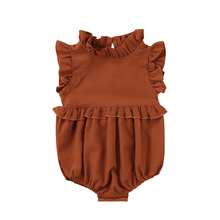 Baby Girls Clothes Ruffle Sleeveless Romper Outfits