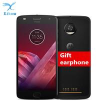 Oryginalny Motorola MOTO Z2 grać XT1710 Smartphone 5 5 FHD Snapdragon Octa Core Android 8 telefon komórkowy 4GB pamięci RAM 64GB ROM telefon komórkowy tanie tanio Lenovo Nie odpinany Inne Adaptacyjne szybkie ładowanie Rozpoznawania linii papilarnych 12MP Nowy 2 karty SIM 1920x1080