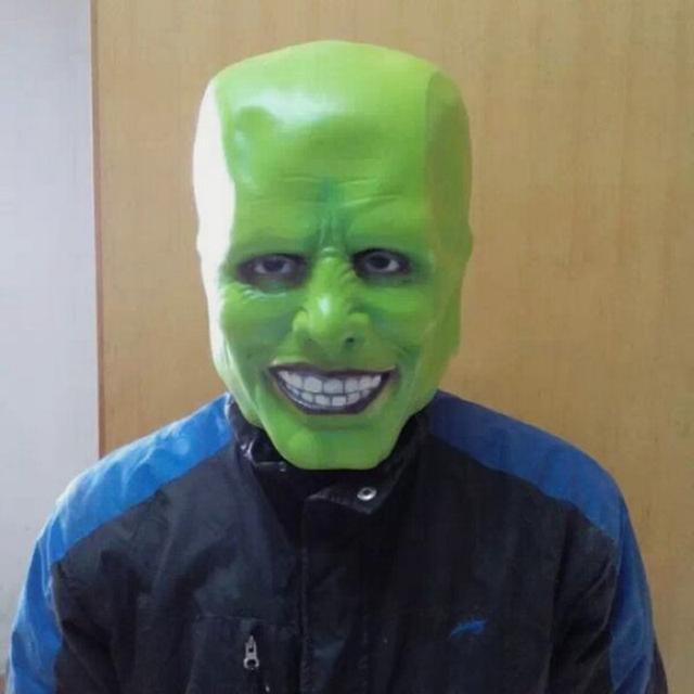 Jim Carrey Disfraz Famosa Película Película Apoyos Del Partido de Halloween Cosplay Detalles Loki máscara de látex