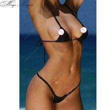 Soft extreme sexy micro triangle brazilian Bikini swimwear Set