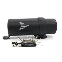Universal Off Road Waterproof Tube Gloves Storage Box For YAMAHA MT01 MT03 MT10 MT09 MT125 MT 01 MT 03 MT 09 MT 125 With 1 Tool