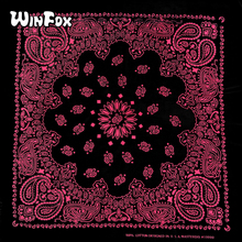 Winfox Cotton Gold Red Bohemia Floral Print Hip-hop Square Paisley Bandana Head Scarf Scarves Wristband For Male Female Women