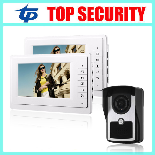 Good quality 7 inch villa home office IR night version color screen video door phone 16 rings 7 wired door bell video intercom 7 inch video doorbell tft lcd hd screen wired video doorphone for villa one monitor with one metal outdoor unit night vision