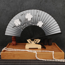Summer Vintage Bamboo Folding Hand Held Flower Fan Chinese Dance Party Pocket Gifts Women Dancing Hand Fans Decor