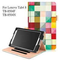 Luxury Case For Lenovo Tab4 8 PU Leather Tablet Cover For Lenovo TAB 4 8 TB