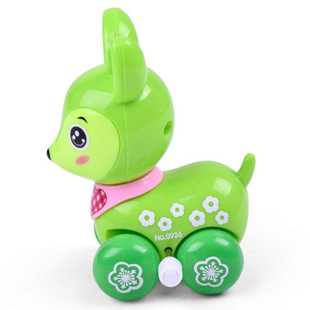 Заводные игрушки, мультяшный олень, бегущий, ползающий, дети, прыгающий, Заводной, милый, детский, Заводной, классический, автомобильный подарок, мультяшное животное