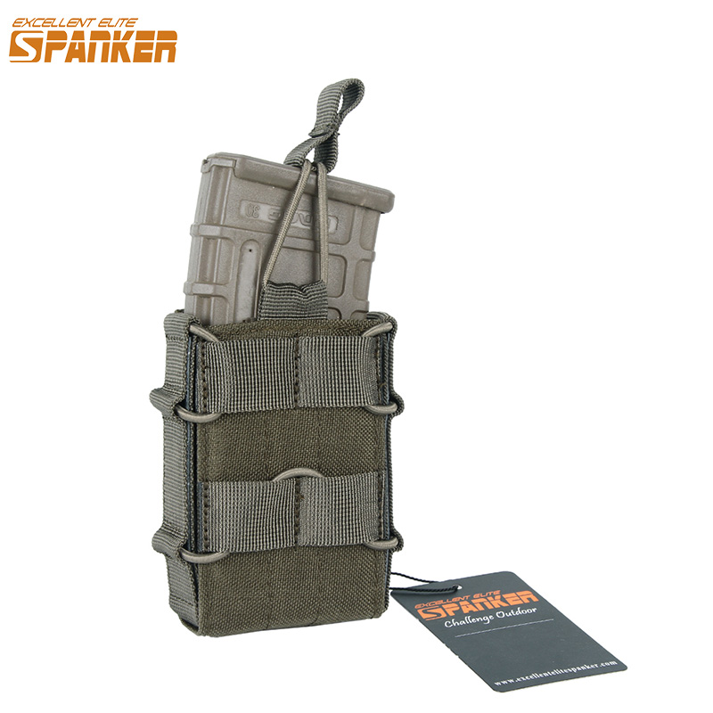 EKONOMI ELITE EXANER Outdoor Tactical Single M4 Magazine Pouch Memburu Tentera Molle Ammo Clip Pouch Cartridge bag Accessory