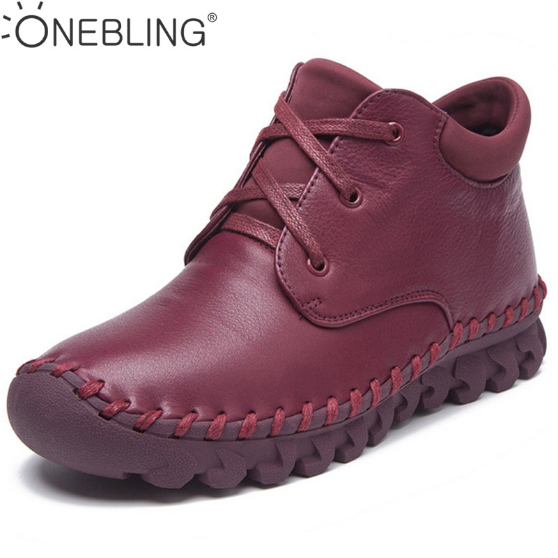 Spring Autumn Women Boots 2017 Fashion Genuine Leather Ankle Boots Lace Up Soft Sewing Short Boots Casual High Top Flat Shoes front lace up casual ankle boots autumn vintage brown new booties flat genuine leather suede shoes round toe fall female fashion