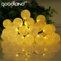 Goodland LED String Lights 6M Fairy Lights 30 Leds Crystal Ball Outdoor Lighting For Decoration Solar