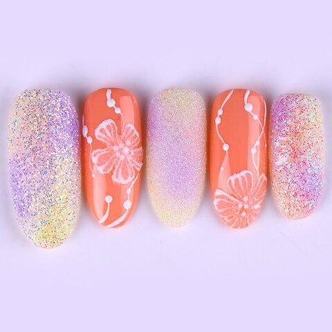 6 Boxes Nail Glitter Set AB Color Sequins Flakes Nail Art Decoration Paillette Manicure DIY Powder Islamabad