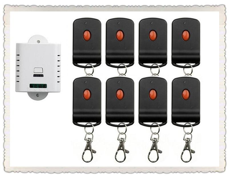 85V 110V 120V 220V 250V 1CH RF Wireless Remote Control Switch System 8 transmitter & 1 receiver relay Receiver Smart Home Switch все цены
