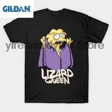 Здесь можно купить   GILDAN 100% cotton O-neck printed T-shirt Lizard Queen T-Shirt Men
