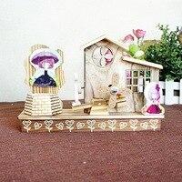 Деревянные шале music box украшения рабочего стола украшение дома ремесло творческий любовник подарок на день рождения три стиля