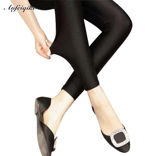 2016 леди push up тонкий леггинсы мода новый стиль горячая блеск леггинсы девушка черные леггинсы summer осень большой размер фитнес новый