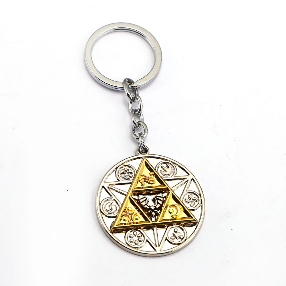 The Legend Of Zelda Keychain Silver Gold Key Ring Holder Metal Fashion Car Bag Chaveiro Key Chain Pendant Game Jewelry