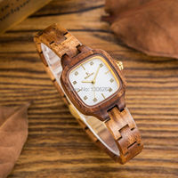 Wood WatchSpecial Wood Design Women S Wooden Watch 28mm Small Size Ladies Quartz Wood Wristwatch Luxury