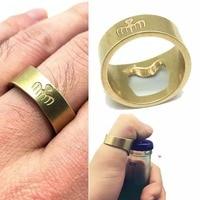 Movie 007 Spectre Logo James Bond Cosplay Finger Ring Beer Bottle Opener Props Brass Fashion Accessory