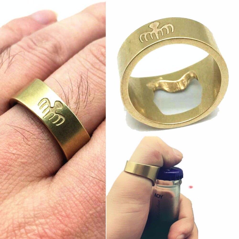 Movie 007 Spectre Logo James Bond Cosplay Vinger Ring Bier Flesopener Props Messing Mode Accessoire Kerstcadeau