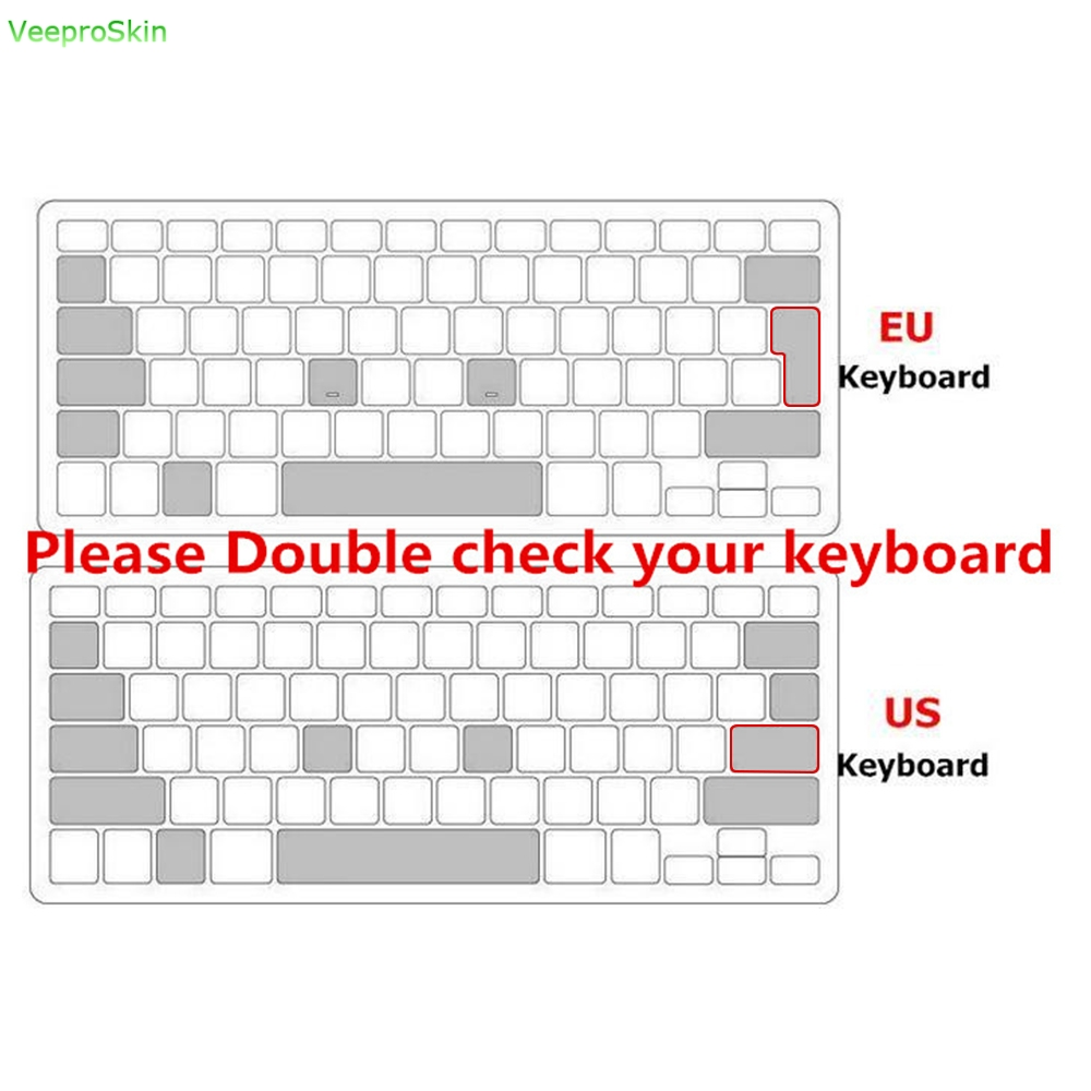 P Ultra Thin Silicone MAC OS Shortcut Keyboard Cover for
