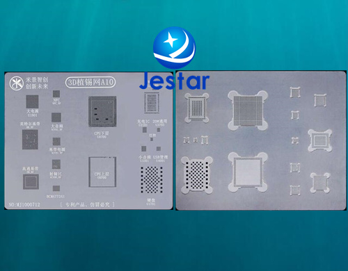 3D BGA reballing reball Direct Heating template stencil plate for iphone 7 7P