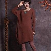 New Spring Autumn Women S Cotton Vintage Dress Long Sleeve Irregular Dresses For Female Loose Clothing