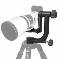 New Professional Aluminum Gimbal Tripod Head For Heavy Telephoto Lens DSLR Camera 360 Panoramic Swivel Tripod Head up to 10KG